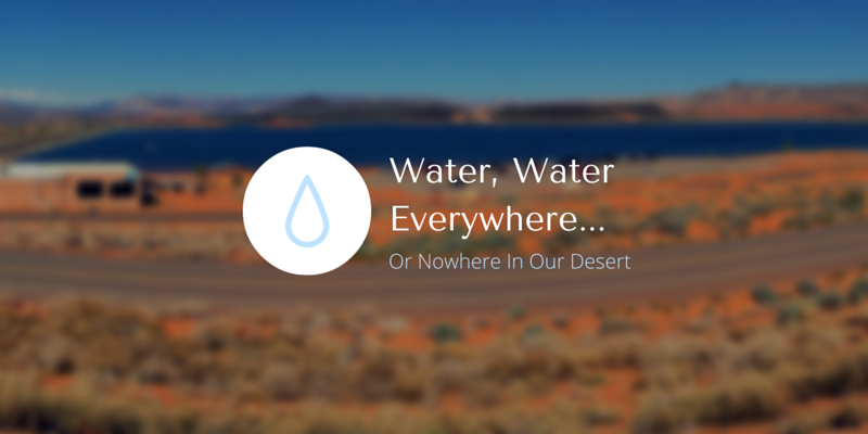 Water, Water Everywhere... Or Nowhere In Our Desert (1)